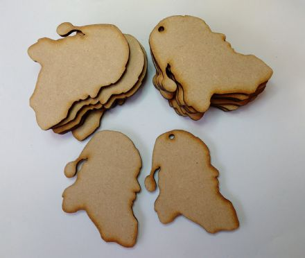 Wooden MDF SANTA SHAPES Craft Blank Christmas Plaque 10 PACK 3mm Thick